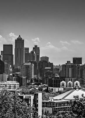 Photograph - Seattle Skyline Middle Triptych by TK Goforth