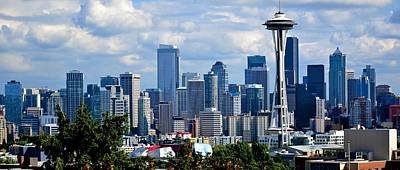Seattle Skyline Panorama Art Print