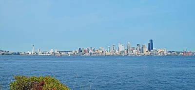 Photograph - Seattle Skyline Panorama by Shanna Hyatt