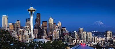 Photograph - Seattle Skyline Panoramic by Brian Jannsen