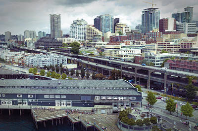 Digital Art - Seattle Skyline by Susan Stone