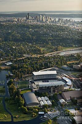 Seattle Skyline With Aerial Of Husky St Art Print