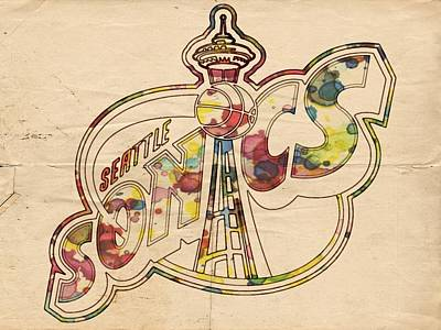 Seattle Sonics Retro Poster Art Print by Florian Rodarte