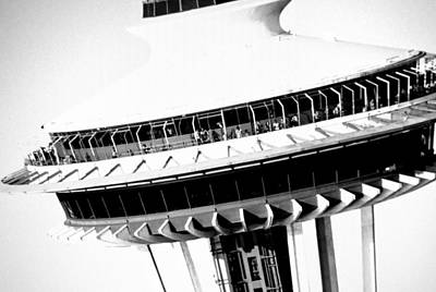 Photograph - Seattle Space Needle Close Up by Amy Giacomelli