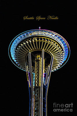 Photograph - Seattle Space Needle by Louise Magno