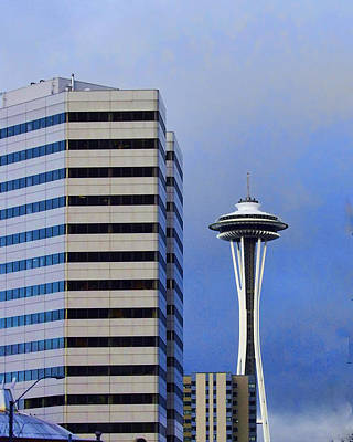 Photograph - Seattle Space Needle by Ron Roberts