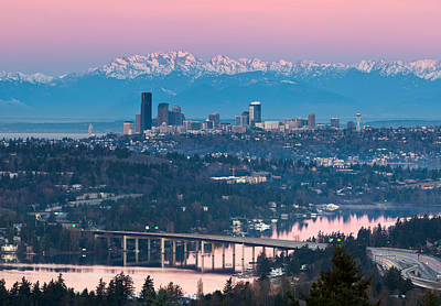 Seattle Sunrise Art Print by Thorsten Scheuermann