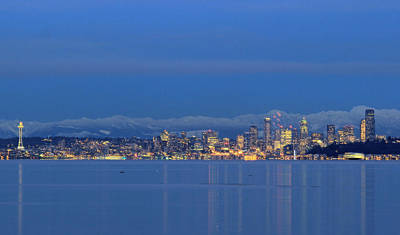 Photograph - Seattle Surrounded By Blue by E Faithe Lester