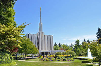 Seattle Temple - Horizontal Art Print