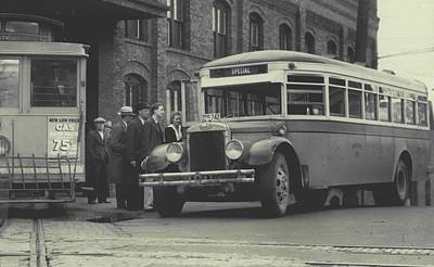 Bus Photograph - Seattle Transit System by Retro Images Archive