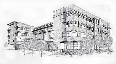 Seattle University Law School Print by Inger Hutton