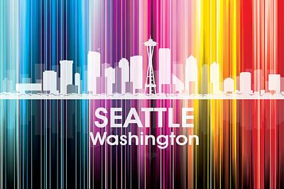 Icon Mixed Media - Seattle Wa 2 by Angelina Vick