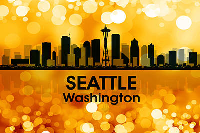 Icon Mixed Media - Seattle Wa 3 by Angelina Vick