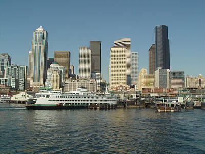 Photograph - Seattle Waterfront by John Bushnell