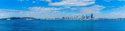 Photograph - Seattle Waterfront Panoramic Day by Chris McKenna