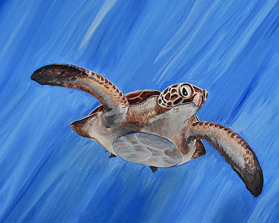 Painting - Seaturtle by Steve Ozment