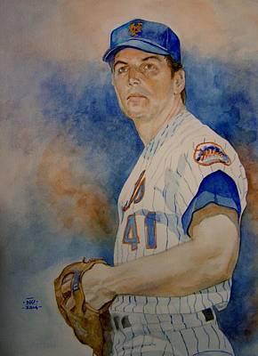 New York Mets Painting - Seaver by Nigel Wynter