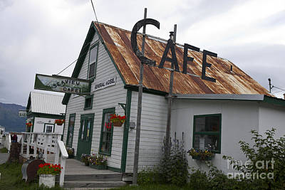 Katharine Hepburn - Seaview Cafe Hope Alaska by Jason O Watson