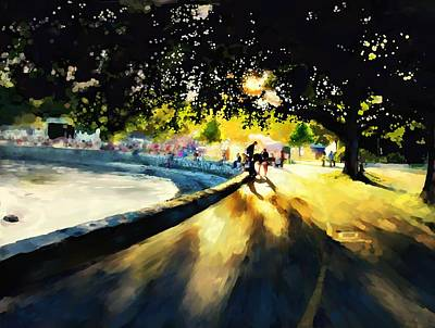 Vivid Colour Painting - Seawall by Gary Lyons
