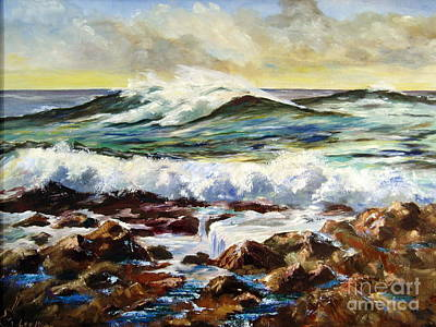 Art Print featuring the painting Seawall by Lee Piper