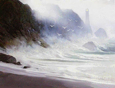 Robert Foster Painting - Seawall by Robert Foster