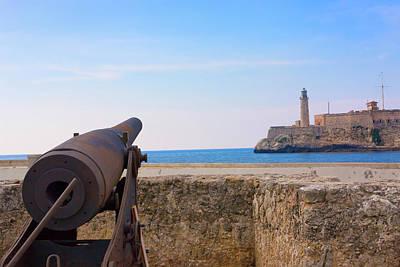 Seawall With El Morro Fort, Havana Art Print by Keren Su