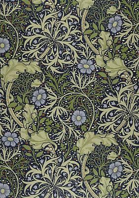 Digital Art - Seaweed Pattern by William Morris