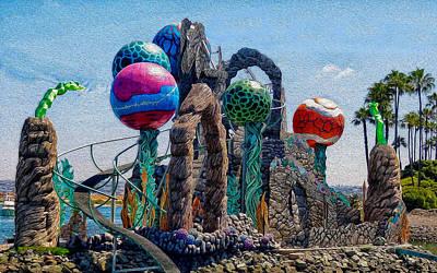 Photograph - Seaworld Abstract by Wayne Wood