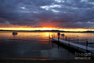 Photograph - Sebago Lake Sunset by Butch Lombardi