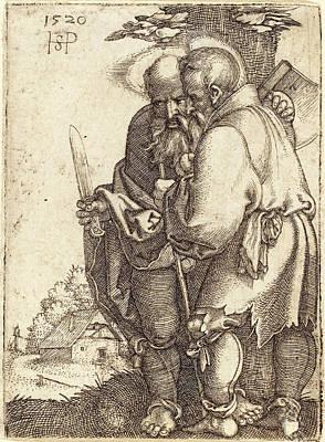 Sebald Beham German, 1500 - 1550, Bartholomew And Matthias Art Print