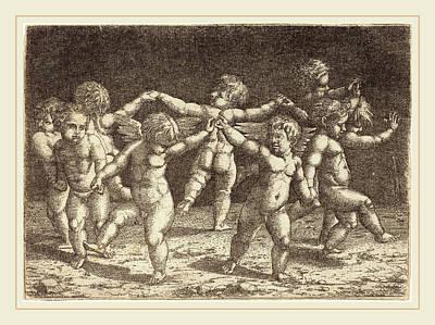 Sebald Beham German, 1500-1550, Dance Of The Gods Of Love Art Print