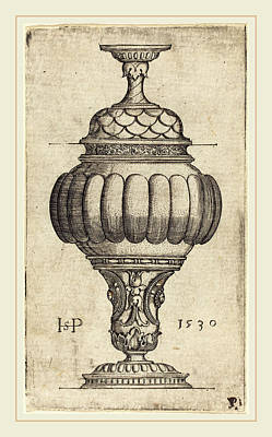 Sebald Beham German, 1500-1550, Double Goblet With Oval Art Print