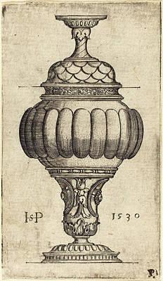 Sebald Beham German, 1500 - 1550, Double Goblet With Oval Art Print