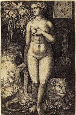 Sebald Beham German, 1500 - 1550, Eve Standing Art Print