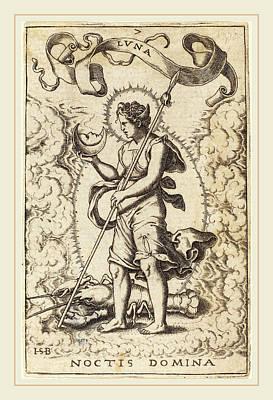 Sebald Beham German, 1500-1550, Luna Art Print