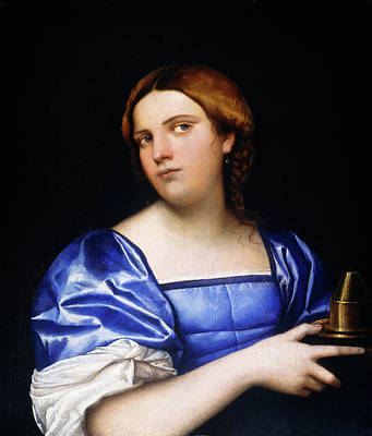Wise Virgin Painting - Sebastiano Del Piombo, Portrait Of A Young Woman As A Wise by Litz Collection