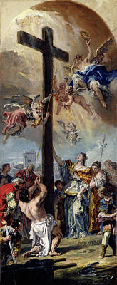 Sebastiano Ricci, The Exaltation Of The True Cross Art Print by Litz Collection