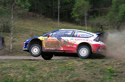 World Rally Championship Photograph - Sebastien Loeb - Repco Rally Australia by Lyle McNamara
