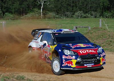 Ds3 Photograph - Sebastien Ogier - Rally Australia by Lyle McNamara