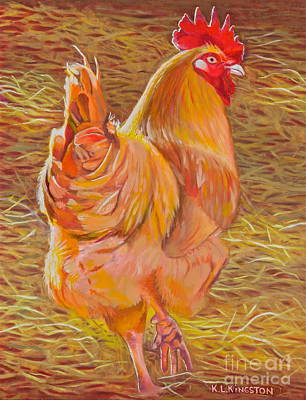 Art Print featuring the painting Sebastopol Rooster by K L Kingston