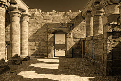 Photograph - Temple Of Maharraqa by Nigel Fletcher-Jones