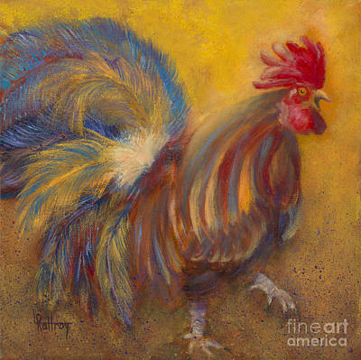 Rooster Painting - Sec Of Co-ops And Urban Development by Lynn Rattray