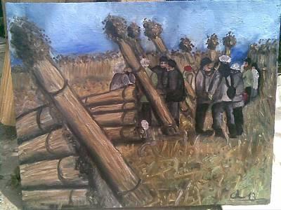 Painting - Seca Trske by Lazar Caran