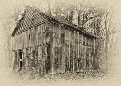 Photograph - Secluded Barn 2013a - Antique by Greg Jackson