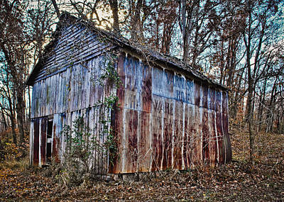Photograph - Secluded Barn 2013a by Greg Jackson