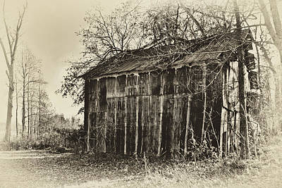 Photograph - Secluded Barn 2013b-antique by Greg Jackson