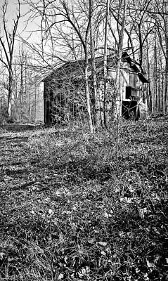 Photograph - Secluded Barn Series 3 In Bw by Greg Jackson