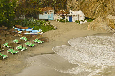 Desserted Photograph - Secluded Bay In Nerja Spain by Jill Mitchell