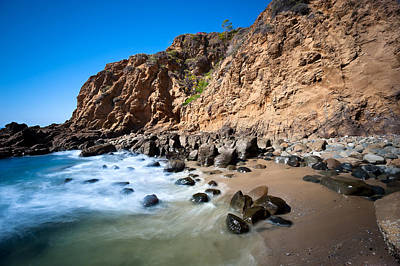 Secluded Beach Cove Art Print