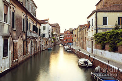 Secluded Canal In Venice Italy Art Print by Ernst Cerjak
